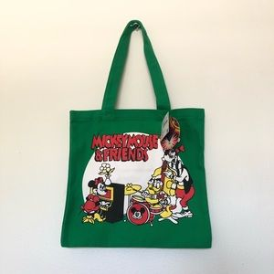 Mickey mouse and friends tote bag